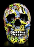 Bunter Totenkopf - Graffiti