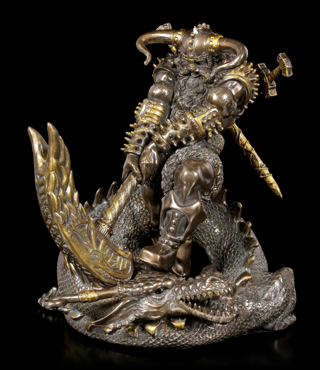 Thor Figur - Kampf mit Midgardschlange Jormungand