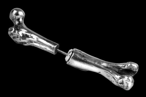 Alchemy Knochen Ohrring - Femur Bone