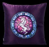 Satin Cushion with Unicorn - The Wish