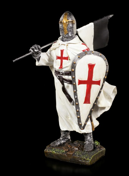Crusader Figurine - Knight with Shield and Flag