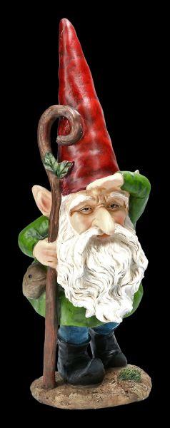 Gnome Figurine - Gazing with Stick