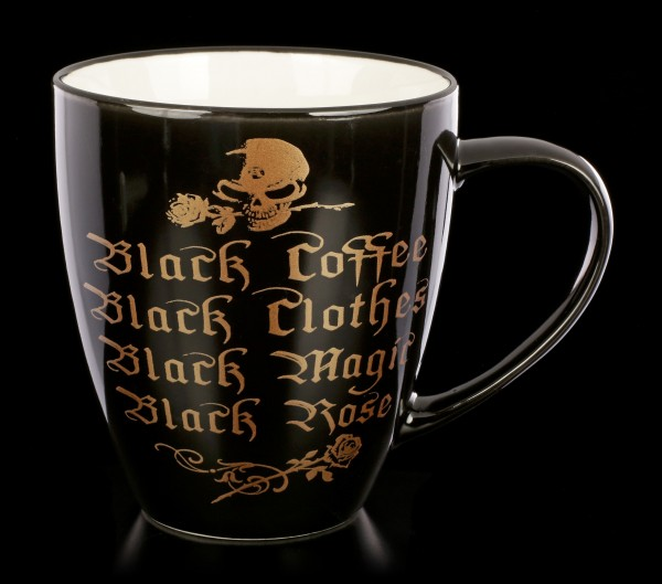 Alchemy Gothic Mug - Black Coffee, Black Clothes