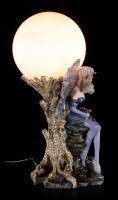 Fairy Table Lamp - Eire with Dragon Babies on Tree Trunk