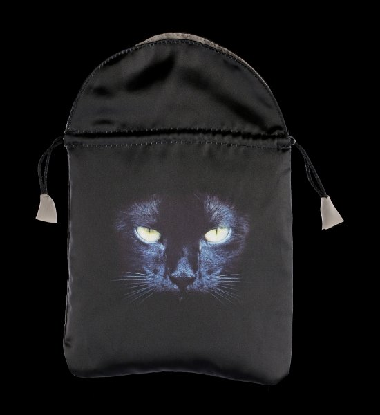 Satin Tarot bag - Black Cat