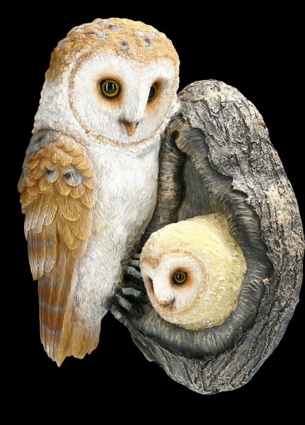 Garden Figurine Tree Decoration - Owl with Owlets