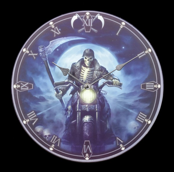 Wall Clock with Reaper - Hell Rider