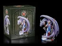 Drachen Figur mit Zauberin - Dragon Mage