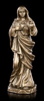 Kleine Unbeflecktes Herz Mariä Figur - bronziert