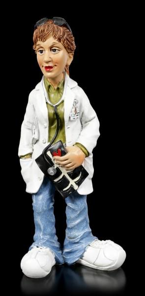 Funny Jobs Figur - Radiologin mit Röntgenbild
