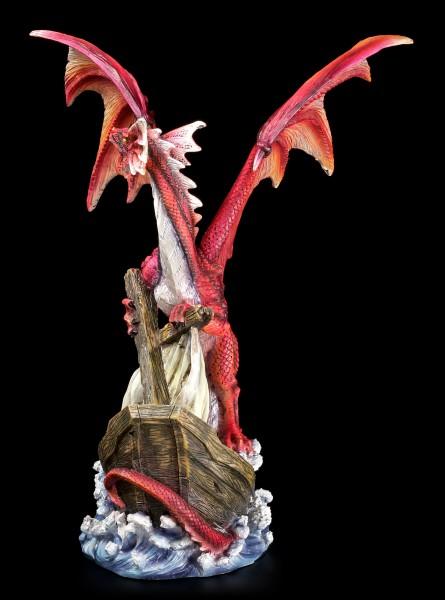 Drachen Figur - Abraxas reißt Schiff in den Abgrund