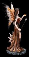 Fire Fairy Figurine - Marrona with Dragon
