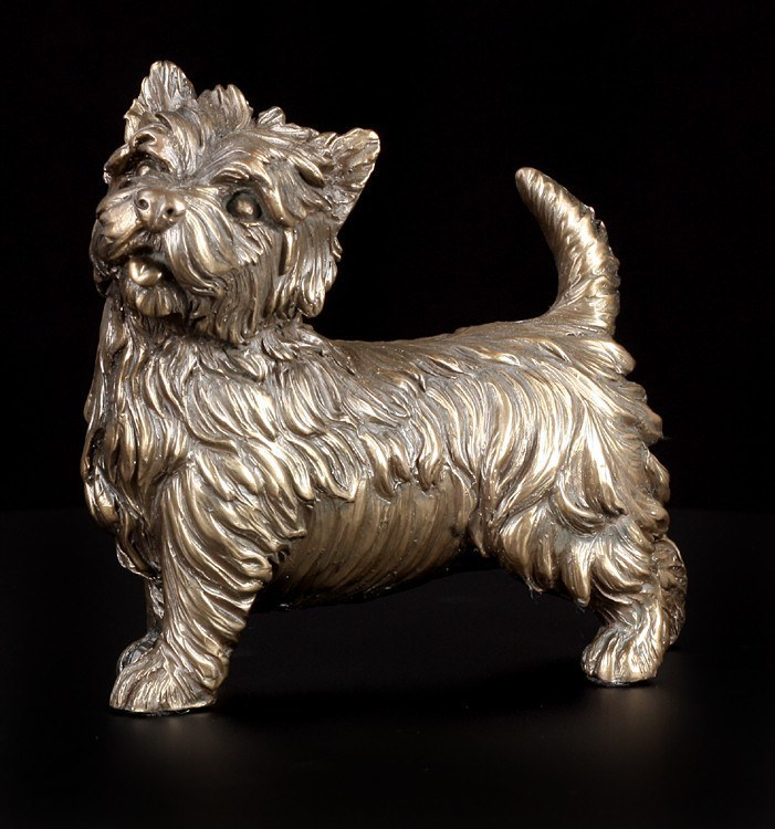 Dog Figure - West Highland Terrier bronzed