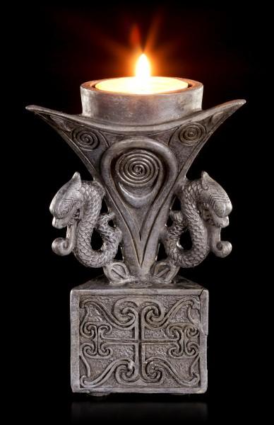 Keltischer Teelichthalter - Dreieckig