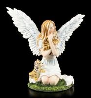 Engel Figur - Nariel mit Tigerbabys
