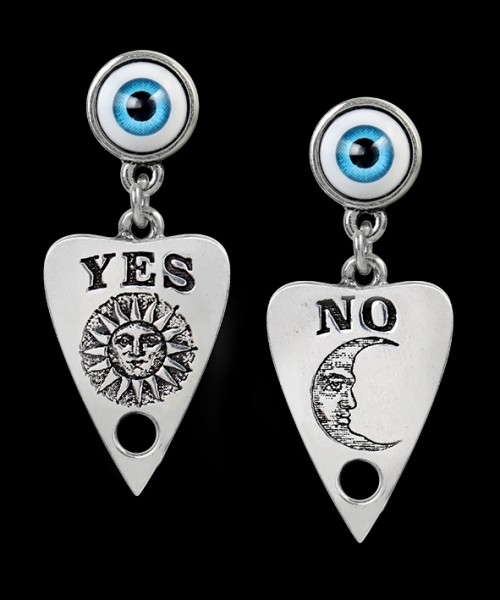Alchemy Gothic Earrings - Ouija Planchette