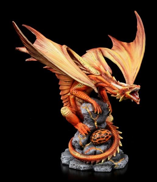 Adult Fire Dragon Figurine