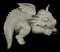 Drachen Kantenhocker Gartenfigur - Schaut nach rechts