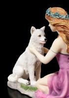 Fairy Figurine - Gweana with Wolf