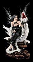 Imperium Ramayana - Große Elfe auf weißem Drachen