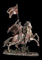 Ritter Figur - Templer Reiter mit Flagge