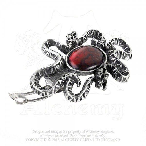 Alchemy Gothic Haarspange - Serpents Eye