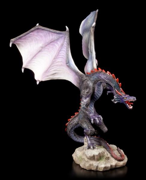 Blaue Drachen Figur - Brüllend