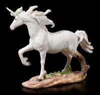 Weiße Einhorn Figur trabend