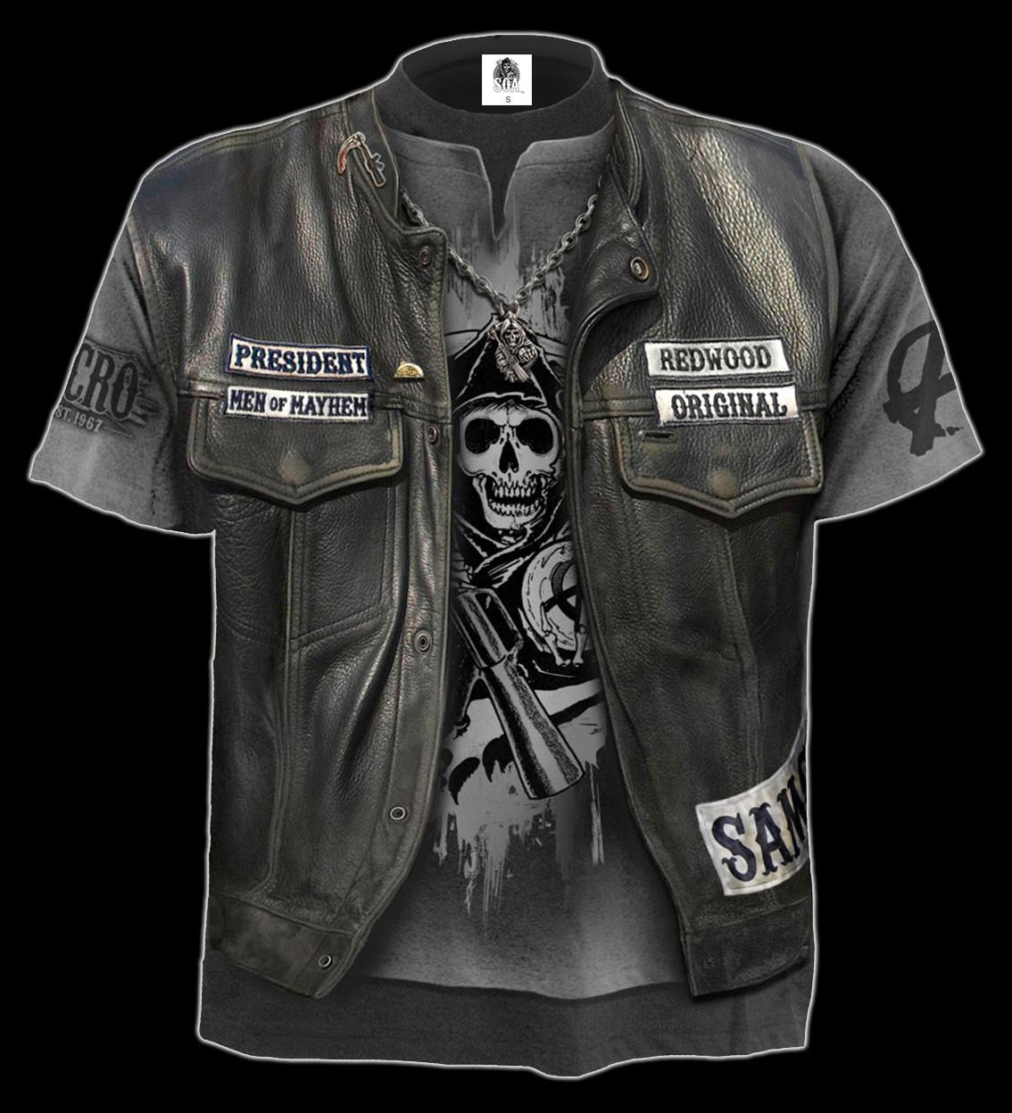 Sons Of Anarchy Redwood Originals Premium Adult Slim Fit T-Shirt