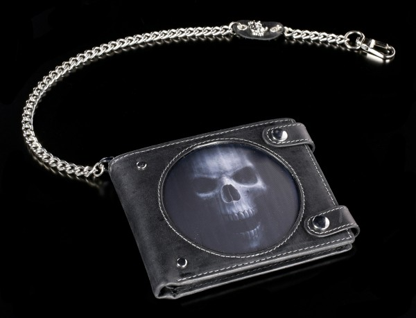 3D Wallet with Skull - The Watcher with Chain