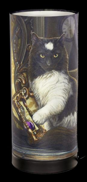 Tischlampe mit Katze - Times Up