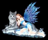 Elfen Figur mit Wolf - Lupiana
