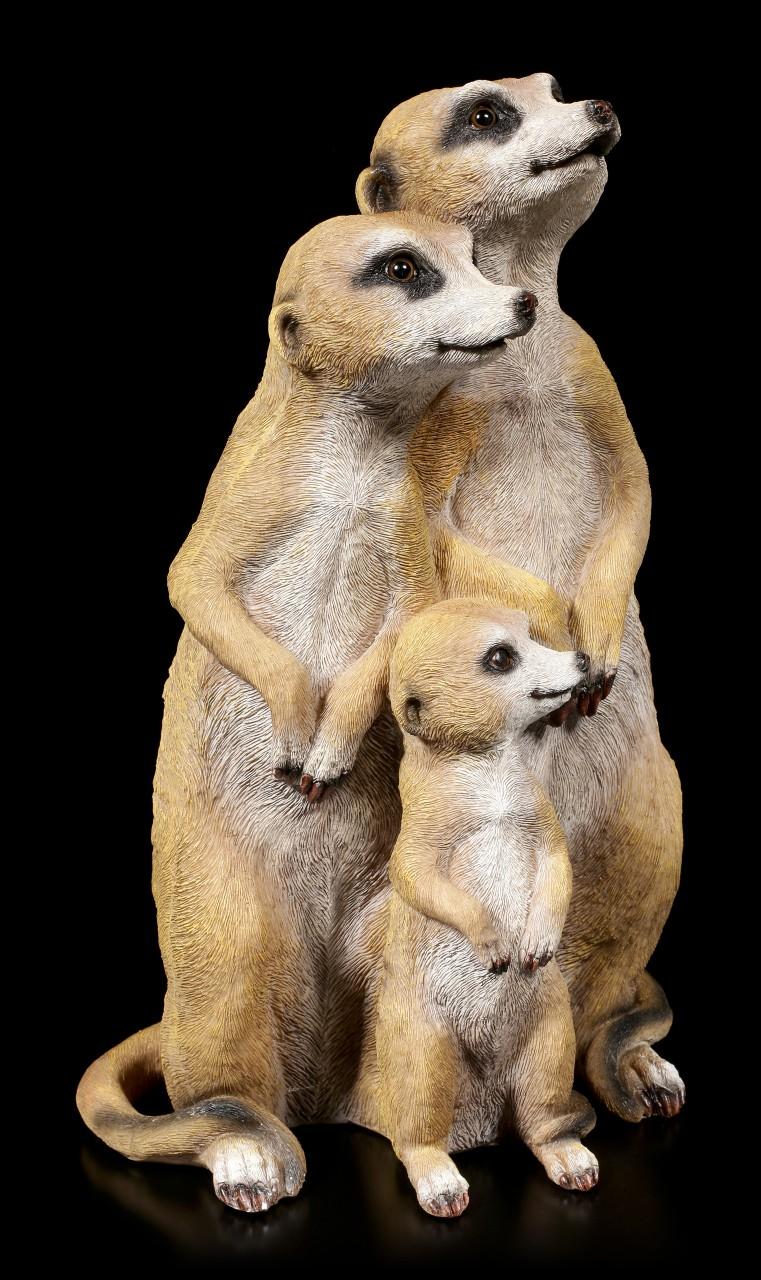 Gartenfigur - Erdmännchen Familie