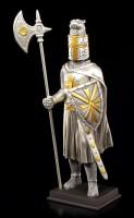 Ritter Figur - Malteser mit Schild und Hellebarde