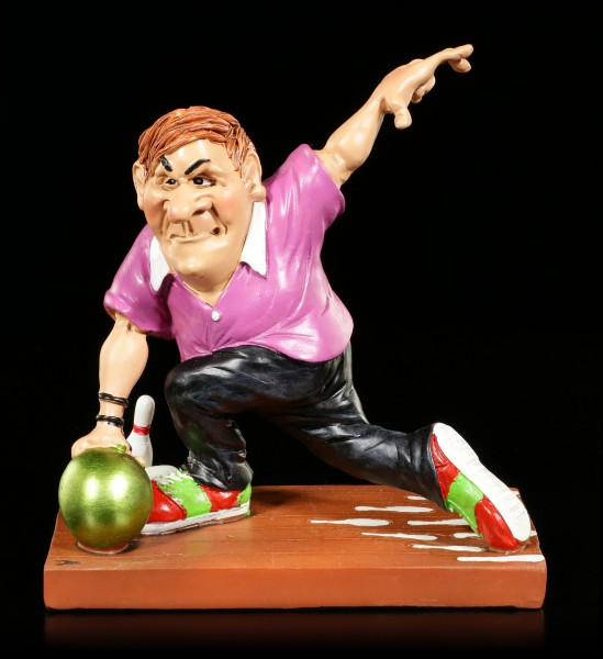 Bowlingspieler Figur wirft Kugel - Funny Sports