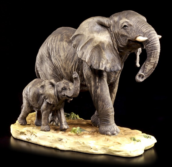 Elephant Figurine - Child with Mother