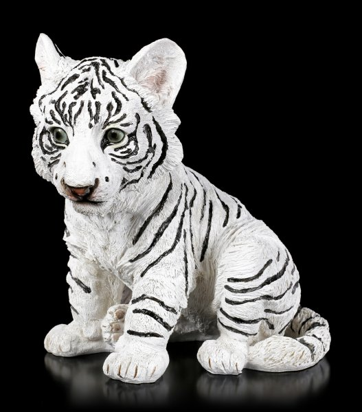 White Tiger Figurine - Little Baby sitting