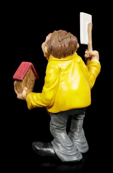 Funny Job Figur - Immobilienmakler mit Schild