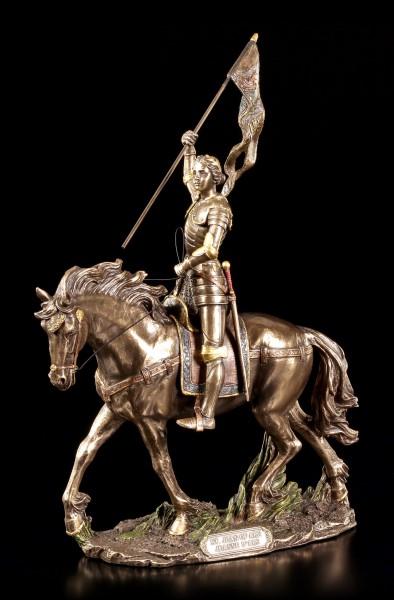 Jeanne d'Arc Figur - Johanna von Orleans auf Pferd