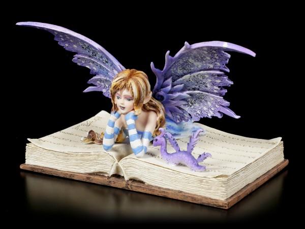 Elfen Figur - Bookworm Fae by Amy Brown
