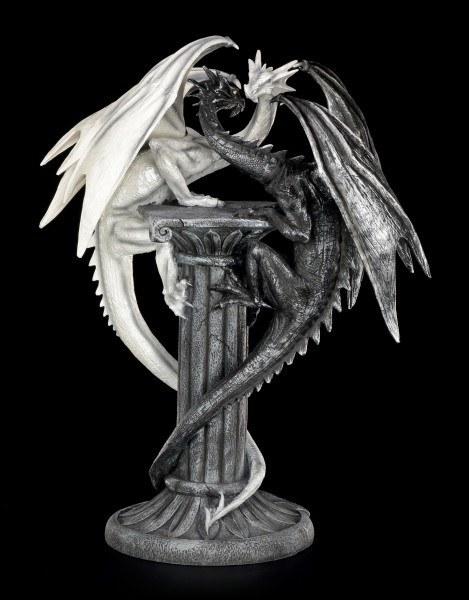 Drachen Figur - Darkwhite auf Säule