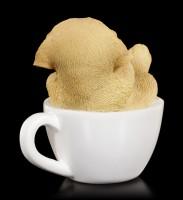 Hunde Figur mini - Golden Retriever Welpe in Tasse