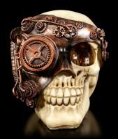 Totenkopf mit Steampunk Maske - Monocle Man