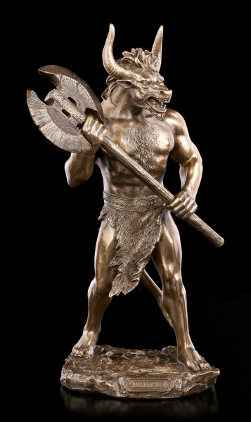Minotaurus Figur mit Doppelaxt