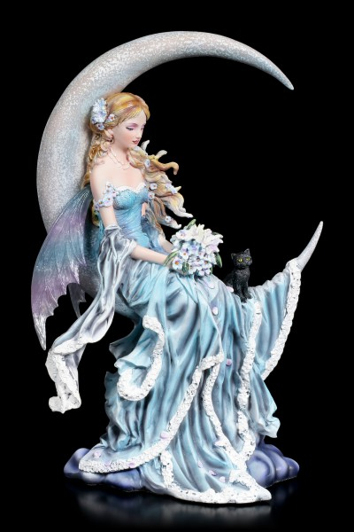 Fairy Figurine with Cat - Wind Moon by Nene Thomas