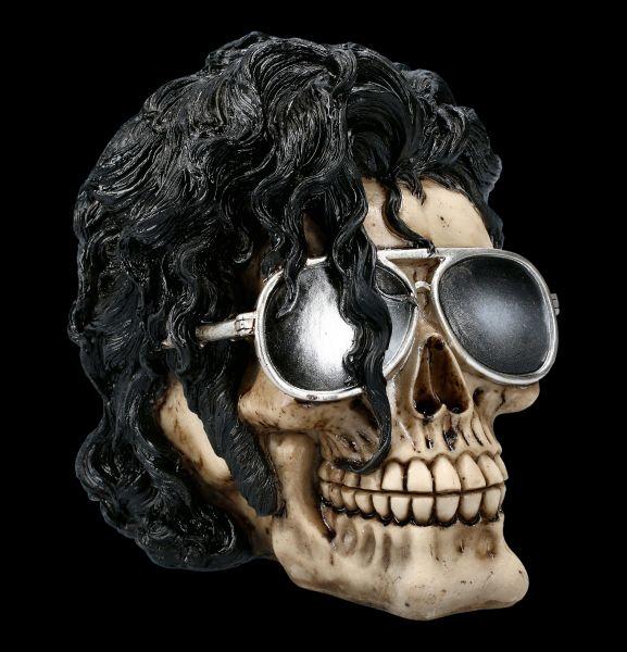 Skull Figurine with Glasses - Bad