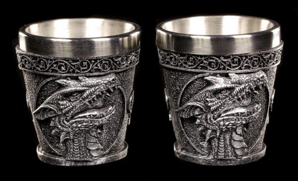 Drachen Schnapsbecher - Shot the Dragon - 2er Set