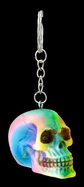 Keyring Skull - Rainbow