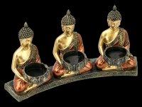 Buddha Tripple Tealight Holder