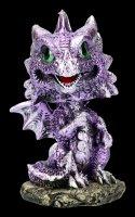 Wackelkopf Figur - Drache Bobling - lila